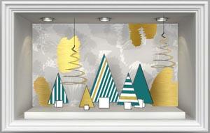 Un brief pour décor de vitrine de Noël