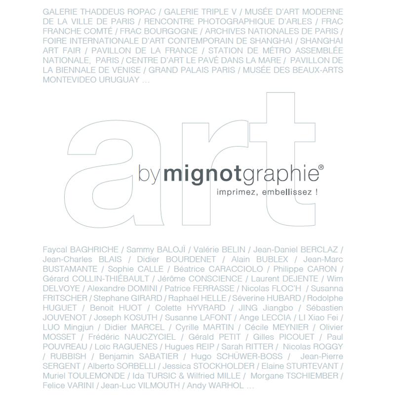mignotgraphie® partenaire des artistes d'art contemporain