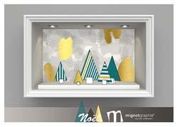 Décorations pour vitrines de Noël