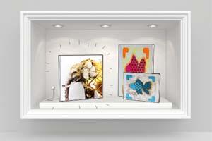 Impression textile pour décoration de vitrine