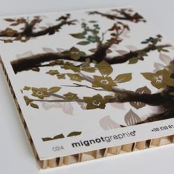 Impression numérique et sérigraphique sur carton alvéolaire
