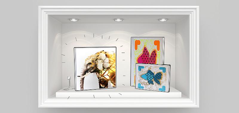 Impression sur cadre en textile imprimé